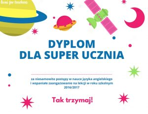 Dyplom dla Super Ucznia